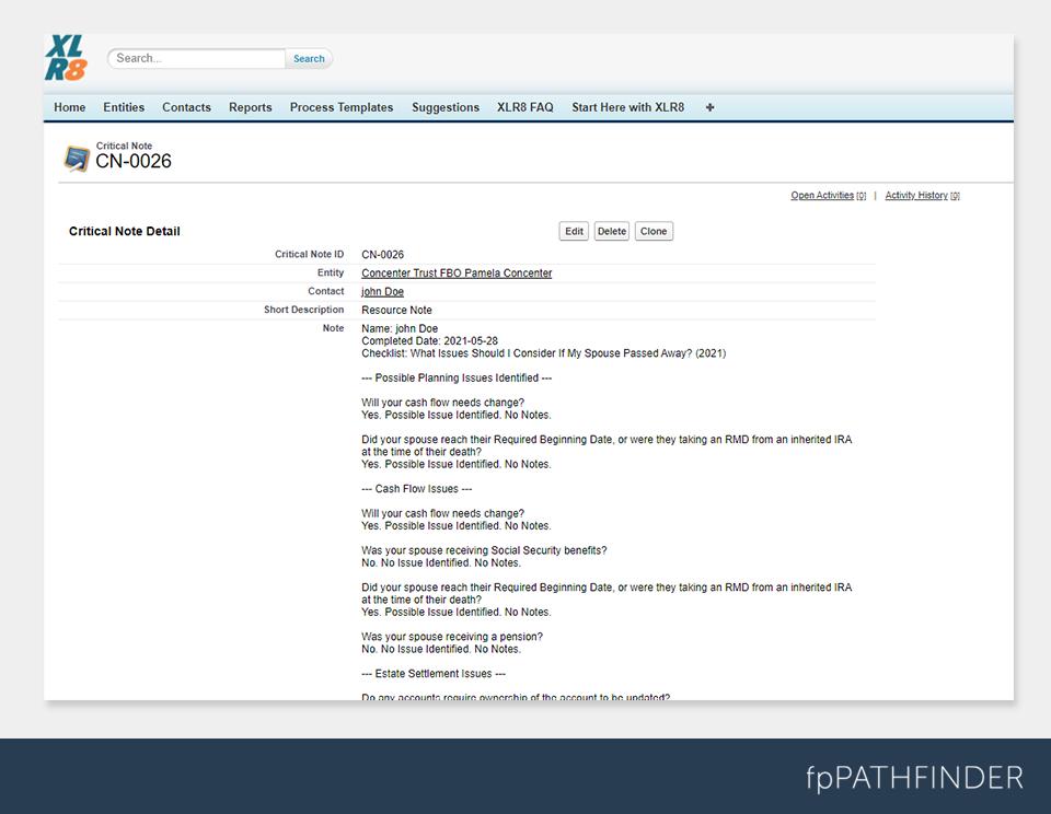fpPathfinder Note in EXLR8